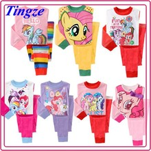 Hot Selling New My Little Pony Sleepwear Design Cheap Cotton Funny Kids Pajamas Set For Children