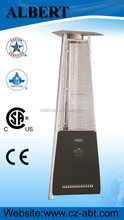 real flame pyramid outdoor gas patio movable heater can be used in park