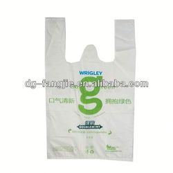 embossing Recycled material T- shirt Bag