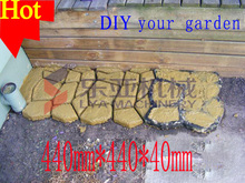 2014 DIY Garden supply!rubber interlocking tile concrete paver stone mouds