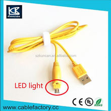 high speed high quality led micro usb charging cable,micro led usb cable