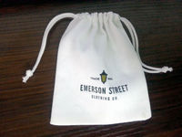 Fancy cheap easy carry custom cotton gift bag