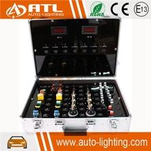 ATL Canton Fair aluminum test box for t20,s25,fog light canbus car led bulb