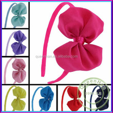 In Stock 4'' Chiffon Chevron Silk Hairband For Baby Girls Hair Accessories,Ribbon Elastic Infant Headbands