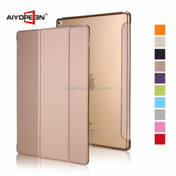 """New Arrival PU and PC Tablet Protective Case for ipad pro auto sleep conjoined Case 12.9"""" with 10 colors"""