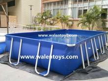 Metal frame garden big pool Family size rectangular swimming