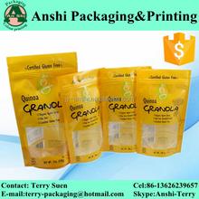 custom print heat seal plastic packaging bag for biscuit/coffee/snack/cake/rice/tea/snack package