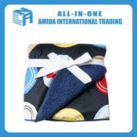 Wholesale colored circles design double thickening baby blanket