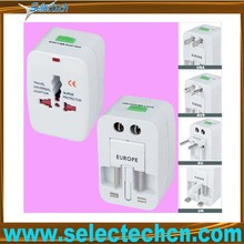 2014 portable all in 1 world international travel electric adapter plug with safety shutter SE-MT931L