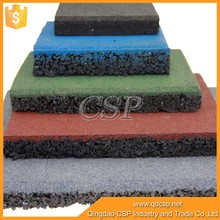 Non-toxic Recycled granules gym rubber flooring, outdoor basketball court rubber floor tile