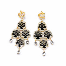 New Style Chunky Drop Earring With Black Grain For Women E10248