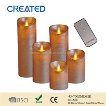 Fashion Paraffin Wax Material and Multi-Colored move flame candles gift for party decoration
