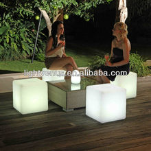LED outdoor Furniture Rechargeable led cube chair for coffee table