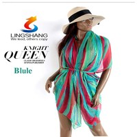 Women Sexy Summer Pareo Sarong Beach Cover Up Swimsuit Bathing Suit Cover Up Sun Protection Pashmina Shawl Wraps