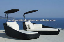 All-weather Two Seat Daybed Rattan - Lounge Bed