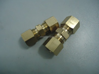 CNC machining brass compression fitting for copper pipe