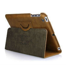 Best price for ipad mini 360 rotating leather case- Red/Brown/Black/Blue color (Paypal and factory)