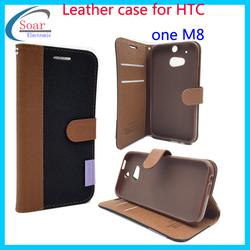 High quality cell phone case for HTC one M8,Leather cheap mobile phone case for HTC one M8