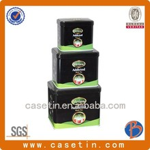 tin food storage containers/large tin cans/metallic box