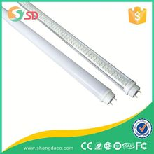 LED T8 Tube Light 15W 4ft 1200mm Fluorescent Replacement - Rotatable End Caps - Driverless Technology - Frosted - High Spec