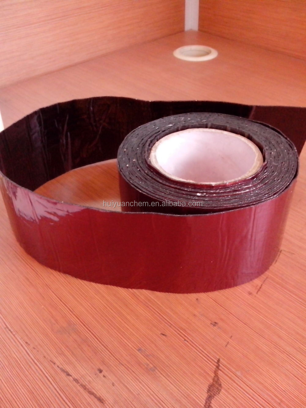 factory: 1.2mm self adhesive aluminium bitumen roll, flashing tape, bitumen flashing band