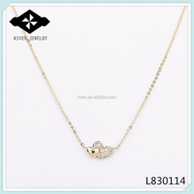 plate 18k gold double heart necklaces country shaped necklaces