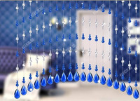 Blue Glass Beads Curtain Crystal Door Bead Curtains For Window
