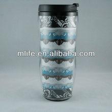 Promotional Double Wall Acrylic Plastic Coffee Cup/Mug