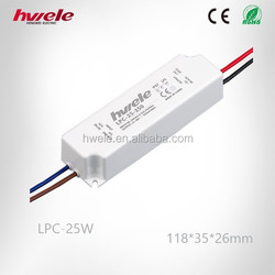 LPC-25W LED waterproof power supply with CE ROHS KC
