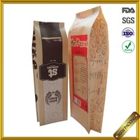 food grade brown paper resealable food bag