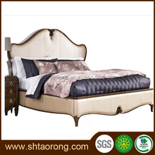 unique design wood upholstery queen size bed TRBD-363