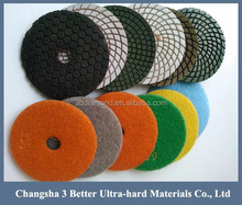 4inch 7inch Wet diamond polishing pads, dry diamond polishing pads, floor diamond polishing pads exportor/supplier/wholesale