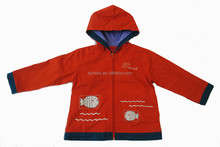Stock Item Long Sleeve Hoody Child Garment Cheap Price Orange Color