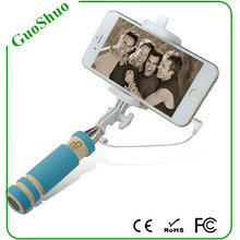 2015 popular and top selling Gift For Christmas Promotion 2015 Cheapest Cable Wired Selfie Stick