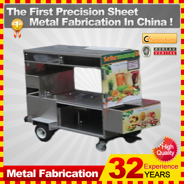 The direct manufacturer supply different food cart with custom service