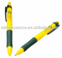 Plastic ECO Yellow Office Supply Ball Pen with Clip for gift