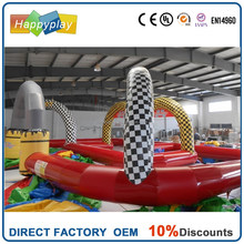 2015 best selling Inflatable go kart track race kart racing products