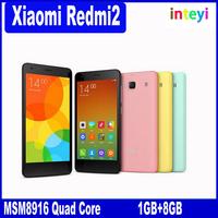 """Original xiaomi redmi 2 redmi2 phone Q ualcomm 410 MSM8916 Quad core Enhanced 16 ROM 1.2Ghz 4G LTE phone 4.7"""" IPS"""
