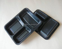 Disposable Airline Plastic Food Container With Three compartments