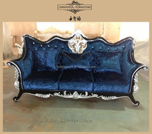 wooden sofa set designs Classical style Fabric sofa 1+2+3 seater