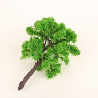light green model and scale tree, HO scale model and scale trees for miniature model