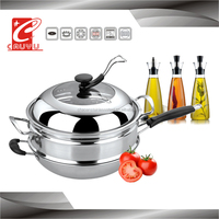 fry pan set bamboo steamer hot new products for CYWKSC30C-7