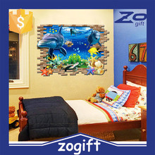 ZOGIFT Custom design kids decorative use removable 3d cartoon wall sticker