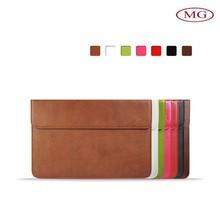 High quality custom handmade slim leather laptop sleeve for macbook air