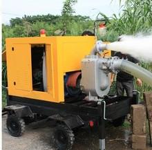 Self-Priming Diesel-Engine Water Pump Mounted on Trailer