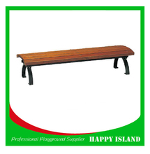 2015 popular park bench design Chinese manufacturer Outdoor Bench Set Backless Outdoor Bench Set Solid Wood Bench For Outdoor