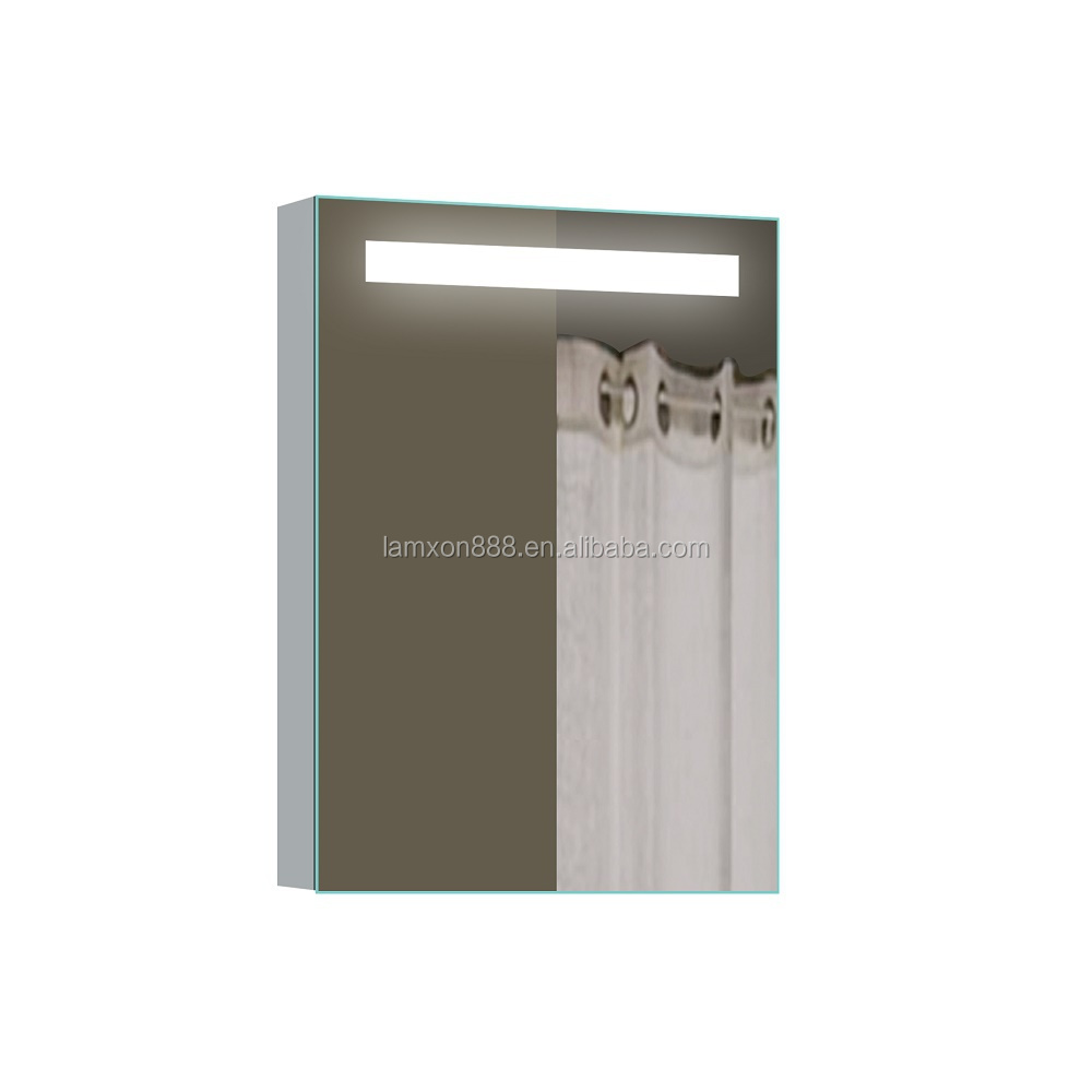 Wall Mounted Illuminated Aluminum Bathroom Mirror Cabinet With ...
