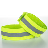 On Sale Wide Reflective Material Mesh Cycling Snap Bracelets