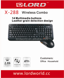 2.4G multimedia Wireless keyboard and mouse sets,high quality