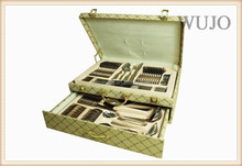 18/10 good quality stainless steel cutlery set 84pcs set with suitcase